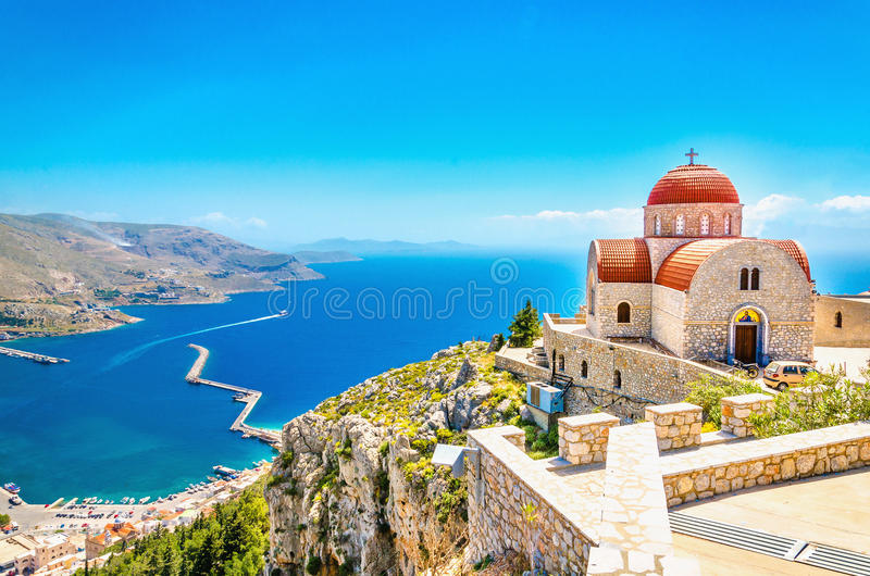 Remote Greek Island From Typical Residence Greece Stock