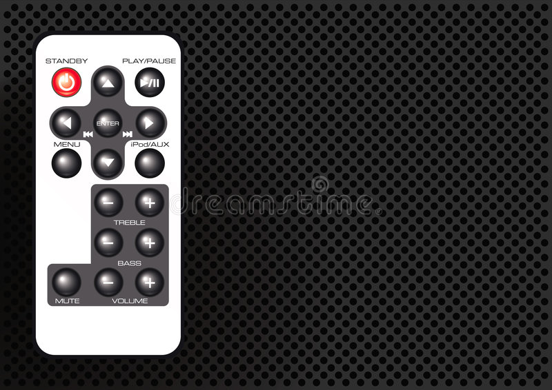Download Remote control stock vector. Image of remote, music, entertainment - 9280760