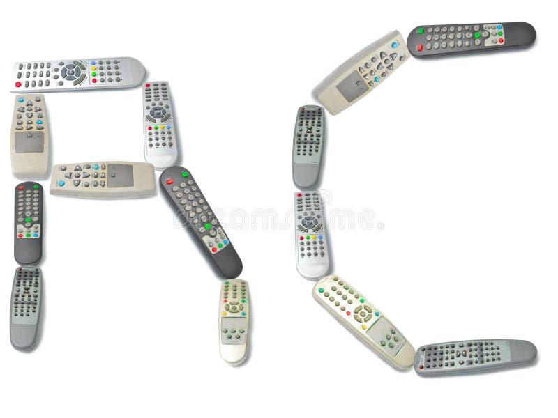 Remote control as word stock photos