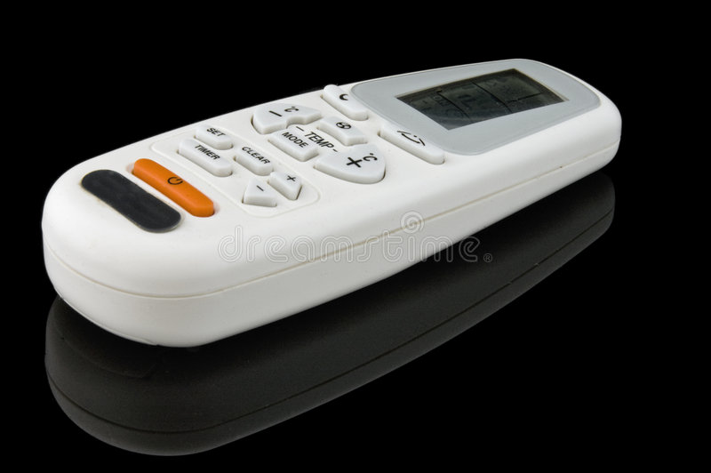 Download Remote Control on Black stock image. Image of comfort - 7435871