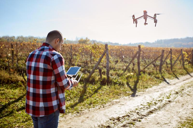 Remote control of drone stock photography