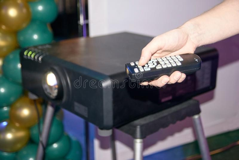 Remote Control. Equipment. Modern technologies royalty free stock photos