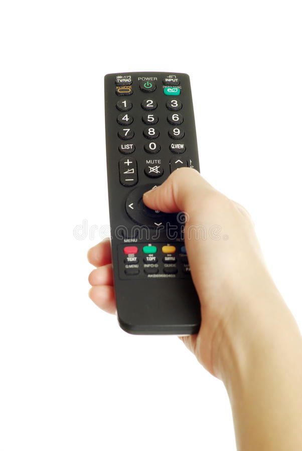 Download Remote control in hand stock photo. Image of keypad, channel - 17220334
