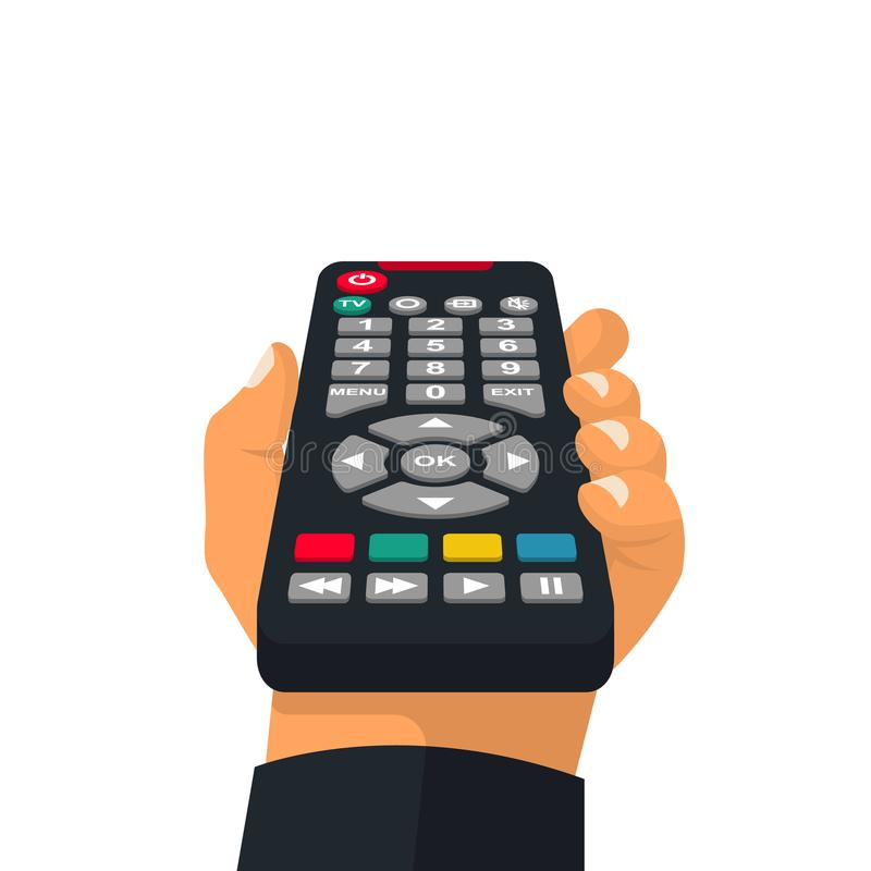 Free Remote Control Holding In Hand Stock Image - 132323981