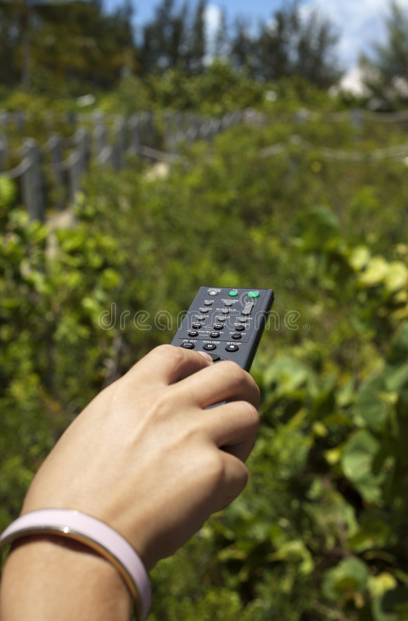 Remote Control Outside Royalty Free Stock Images