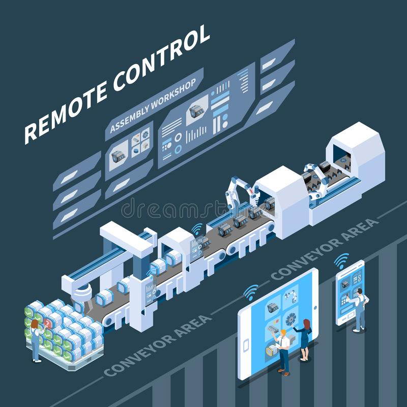 Remote Control Smart Industry Composition royalty free illustration