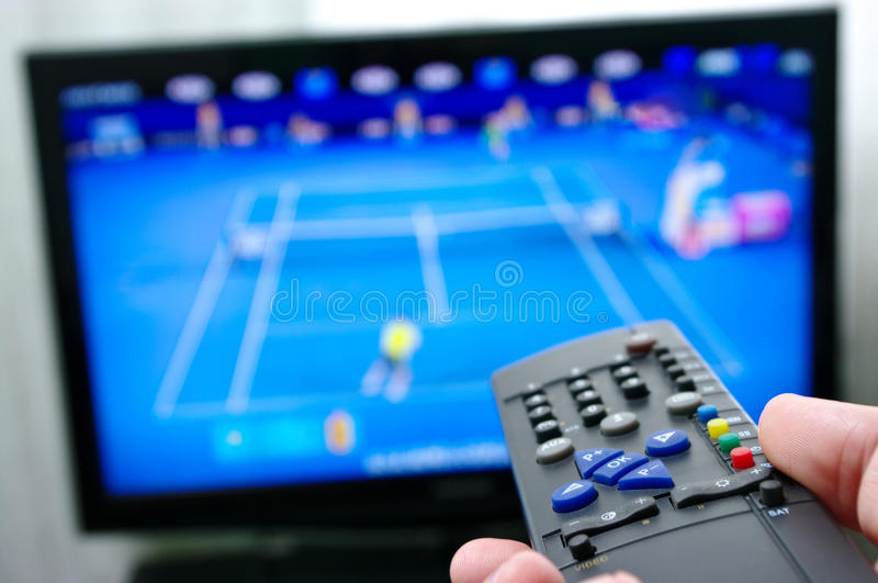 Remote control - tennis royalty free stock images
