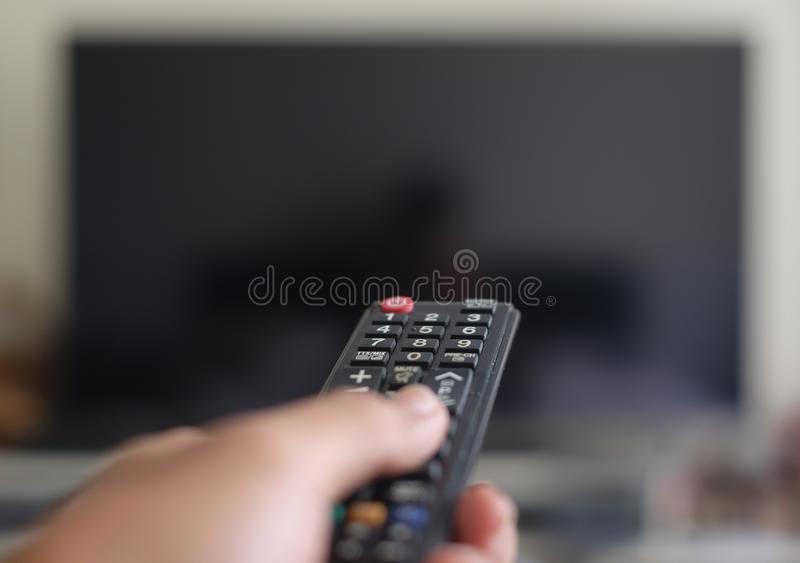Remote control for TV stock photography