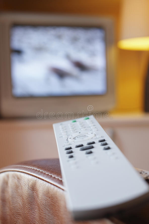 Download Remote Control And TV In Living Room Stock Photo - Image: 33848154
