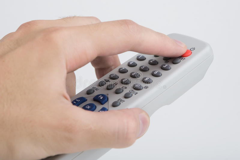 Download Remote control tv on white stock photo. Image of keypad - 11444242