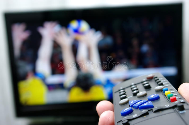 Remote control - volleyball royalty free stock images