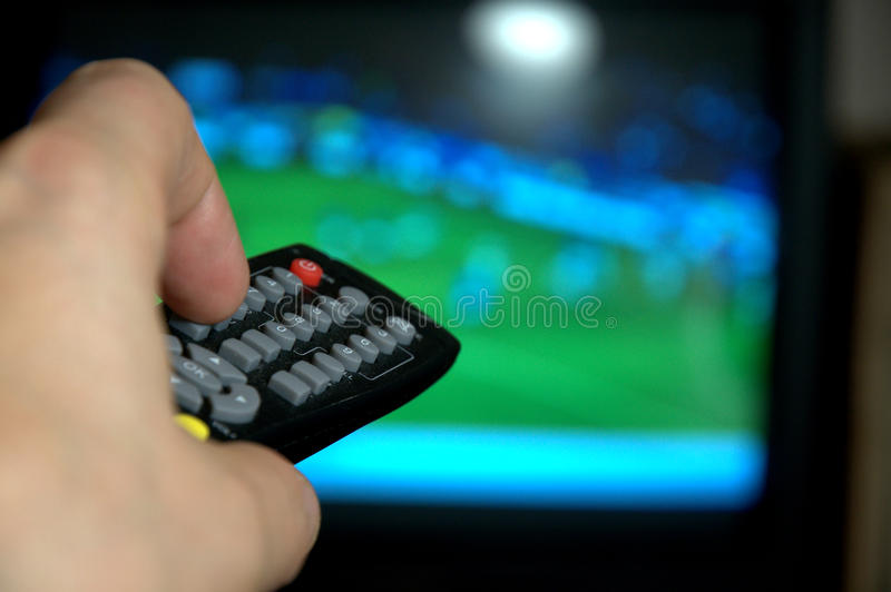 Remote control for watching TV stock images