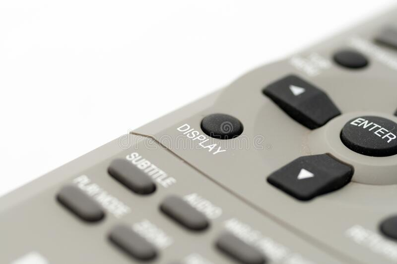 Remote control on a white background.  stock image