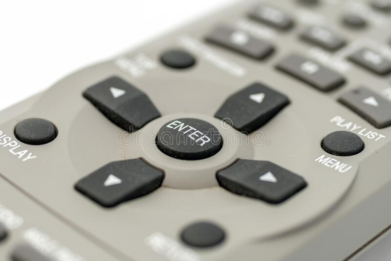 Remote control on a white background.  stock photos