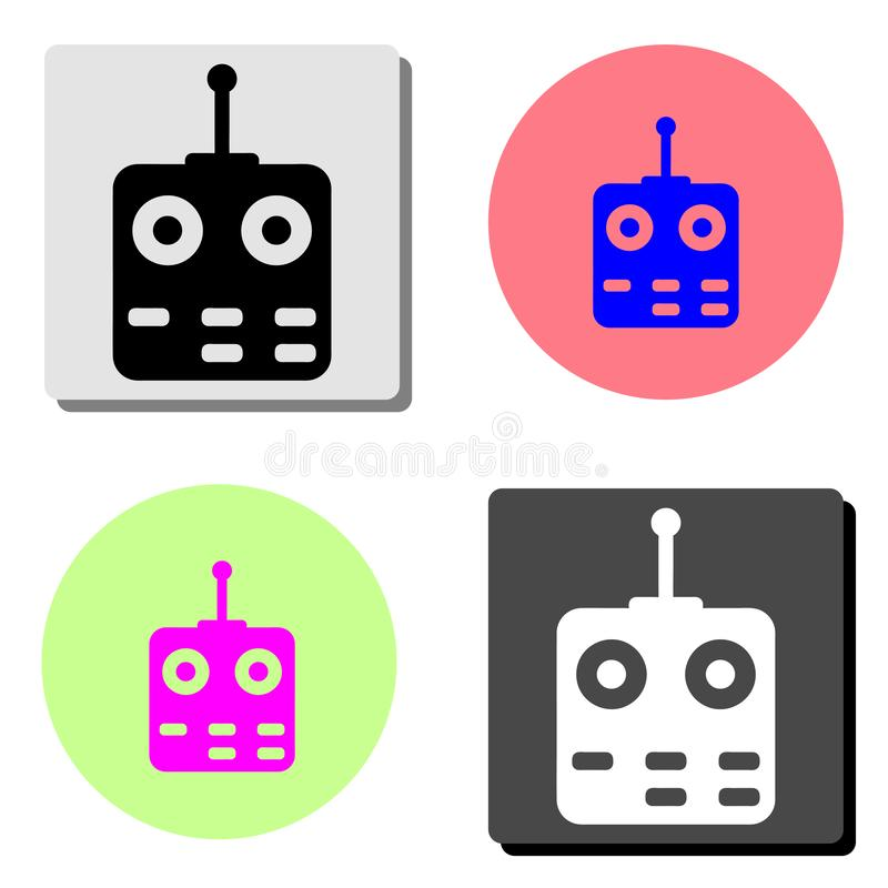 remote controlled. flat vector icon vector illustration