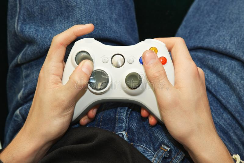 Remote controller. Video console remote controller device royalty free stock photography