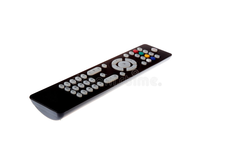 Remote controller. Isolated on the white background royalty free stock photos