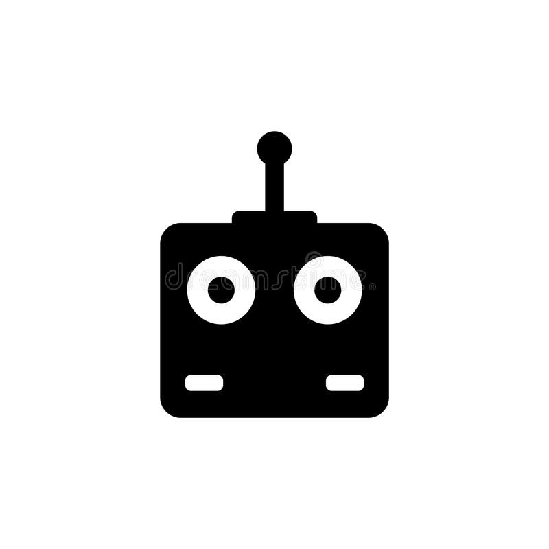Remote Controller Car, Drone, Fly Toys Flat Vector Icon royalty free illustration