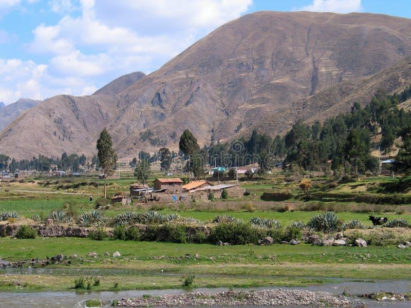 Remote farm in Peru stock photo