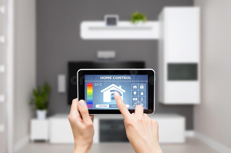 Remote home control system on a digital tablet. Remote home control system on a digital tablet or phone
