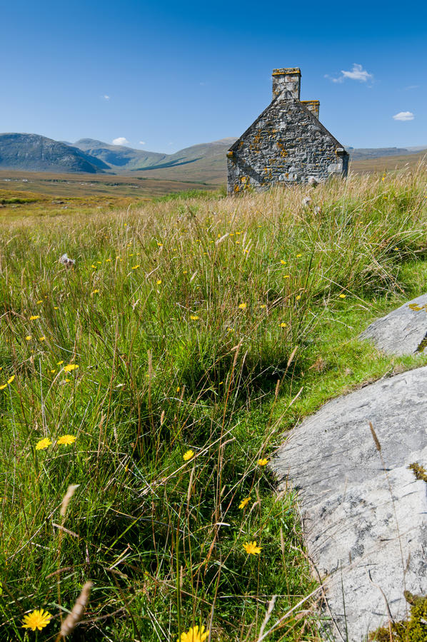 Remote house in tranquil landscape royalty free stock images