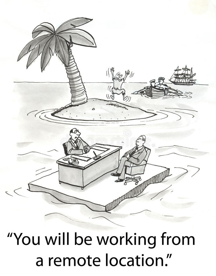 Download Remote location worker stock illustration. Image of cartoons - 23630400