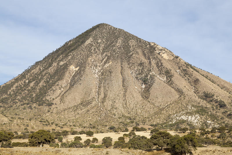 Remote mountain on way to Jalapa in Mexico. Big hill on the way to Jalapa, in Mexico royalty free stock photography