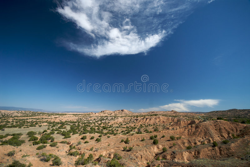 Remote New Mexico Landscape. Taken on summer day royalty free stock photos