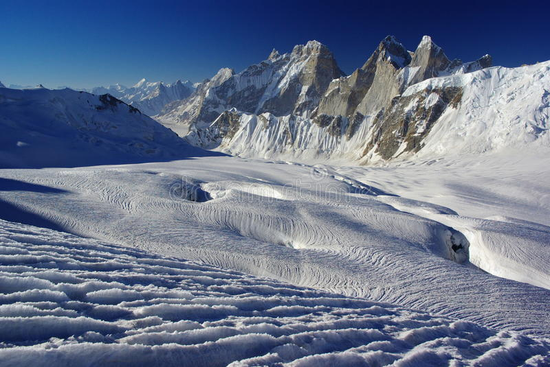 Remote peaks stock photography