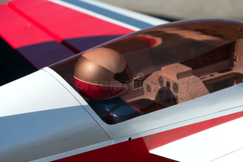 remote rc управлением кокпита самолета стоковые изображения