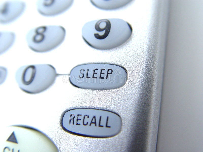 Remote with sleep button stock photos