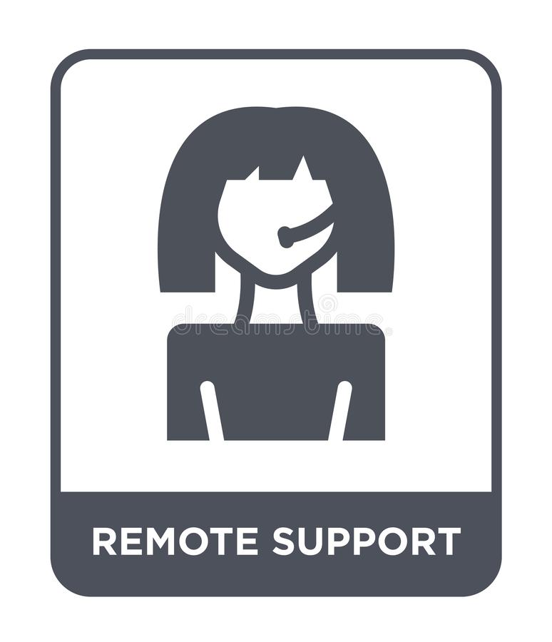 Remote support icon in trendy design style. remote support icon isolated on white background. remote support vector icon simple. And modern flat symbol for web royalty free illustration