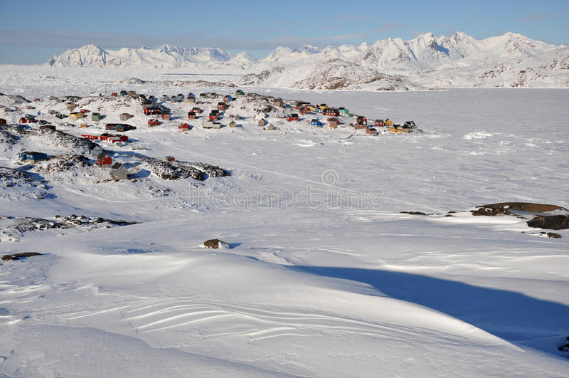 Download Remote Village In Winter, Greenland Stock Photo - Image: 18704178
