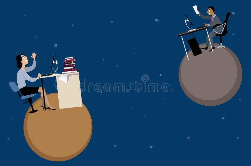 Remote work stock illustration