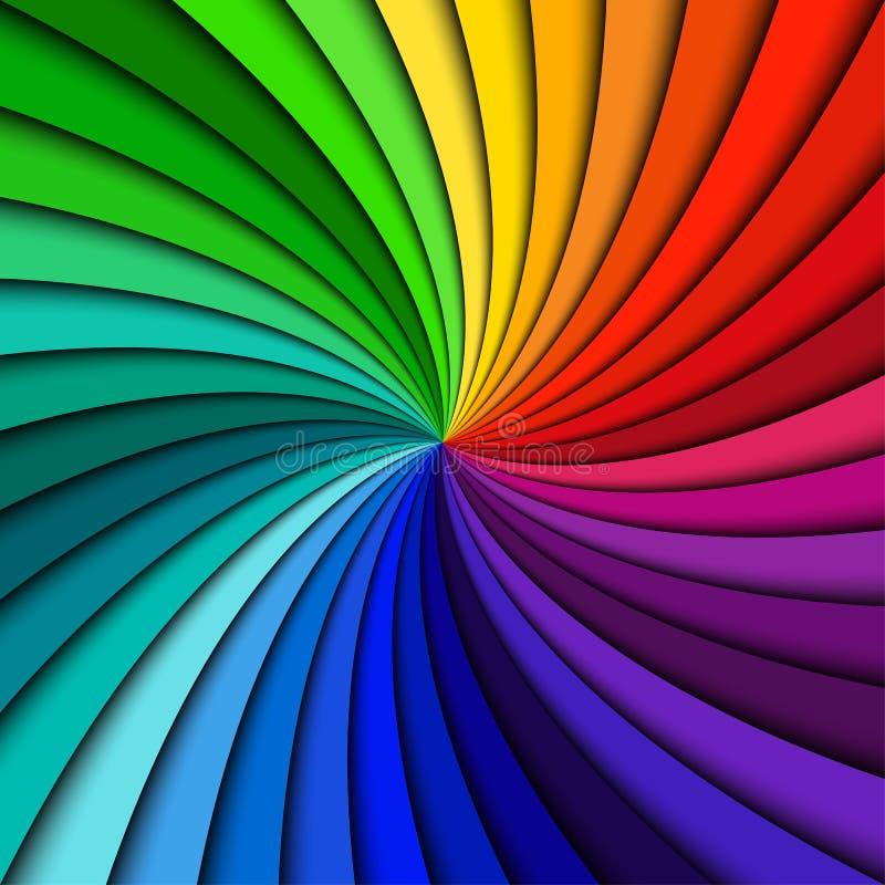 Remous coloré d'arc-en-ciel illustration de vecteur