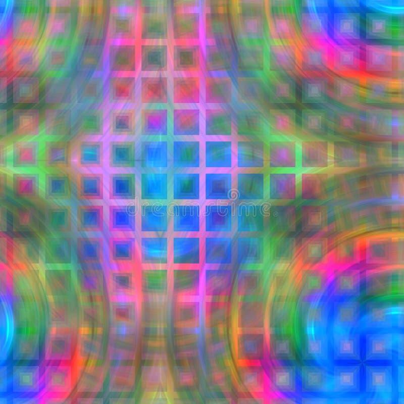 Remous colorés sur le labyrinthe illustration de vecteur