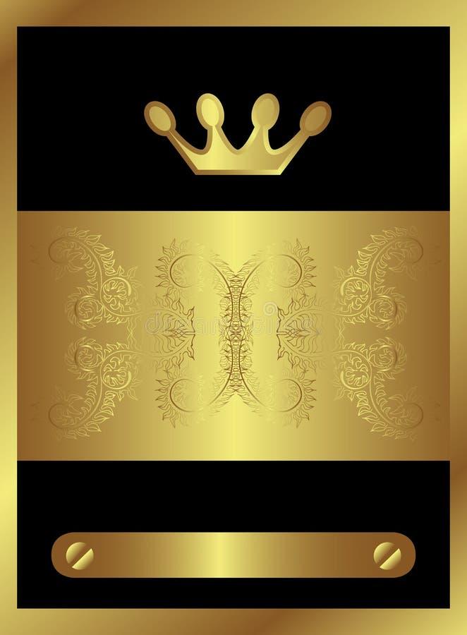 Remous d'or royal illustration de vecteur