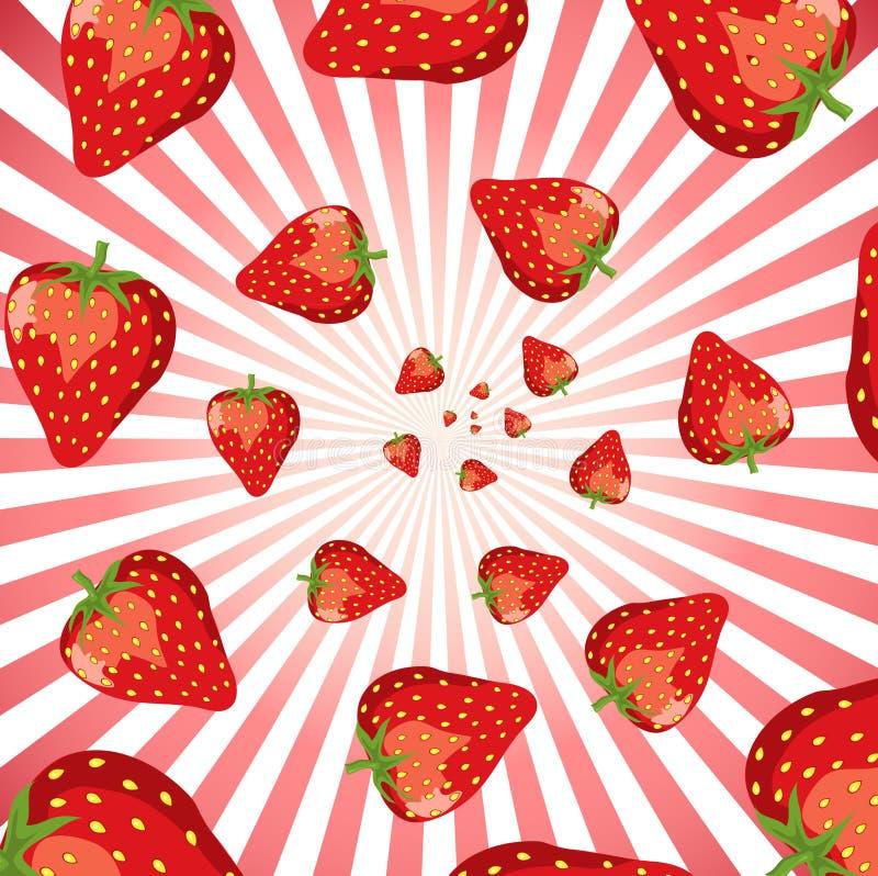 Remous de fraise illustration libre de droits