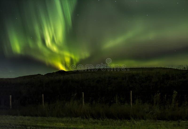Remous des lumières du nord photos libres de droits