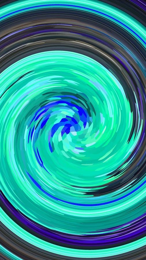 Remous efficace bleu illustration libre de droits