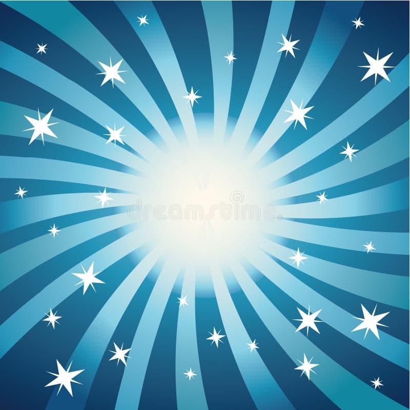 Remous et étoiles (bleus) illustration stock