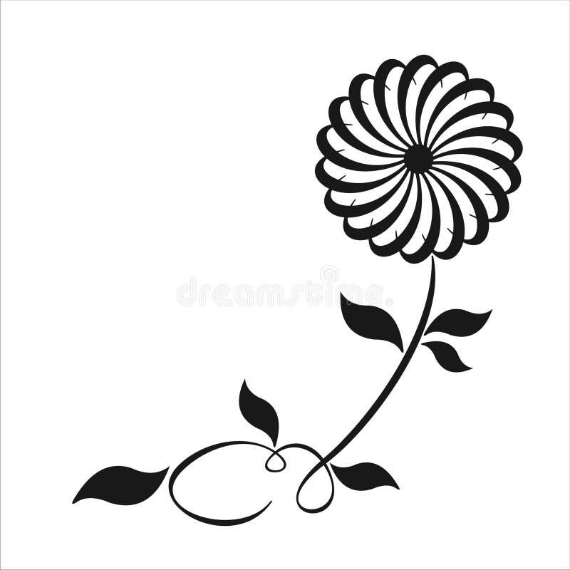 Remous floral illustration stock