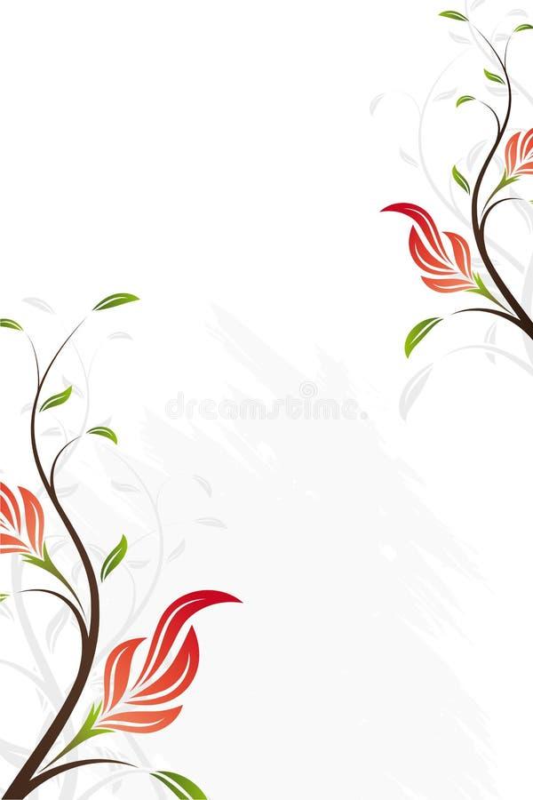 Remous floral de vecteur illustration libre de droits