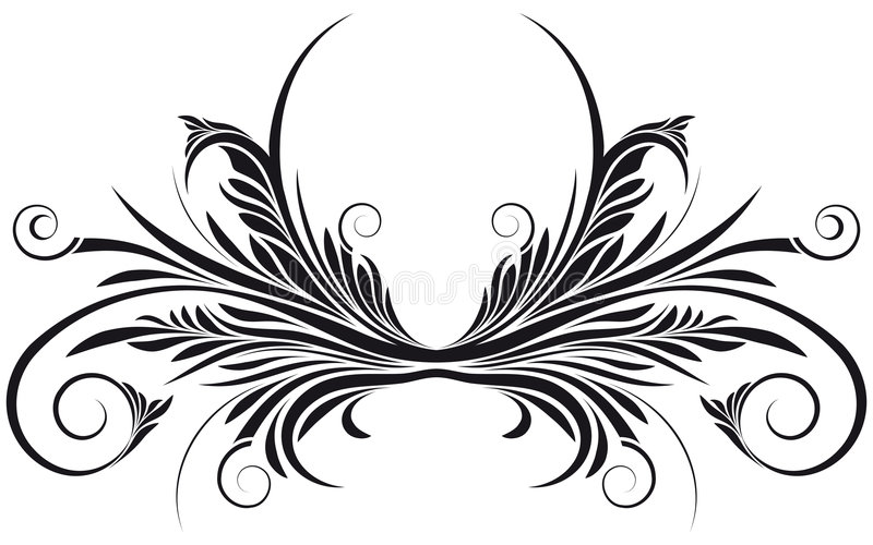 Remous floral de vecteur illustration de vecteur