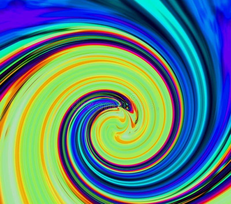 Remous hypnotique abstrait Fond de mode de beauté Fond abstrait de couleur de sports Route vitesse mouvement Rayons au néon illustration stock