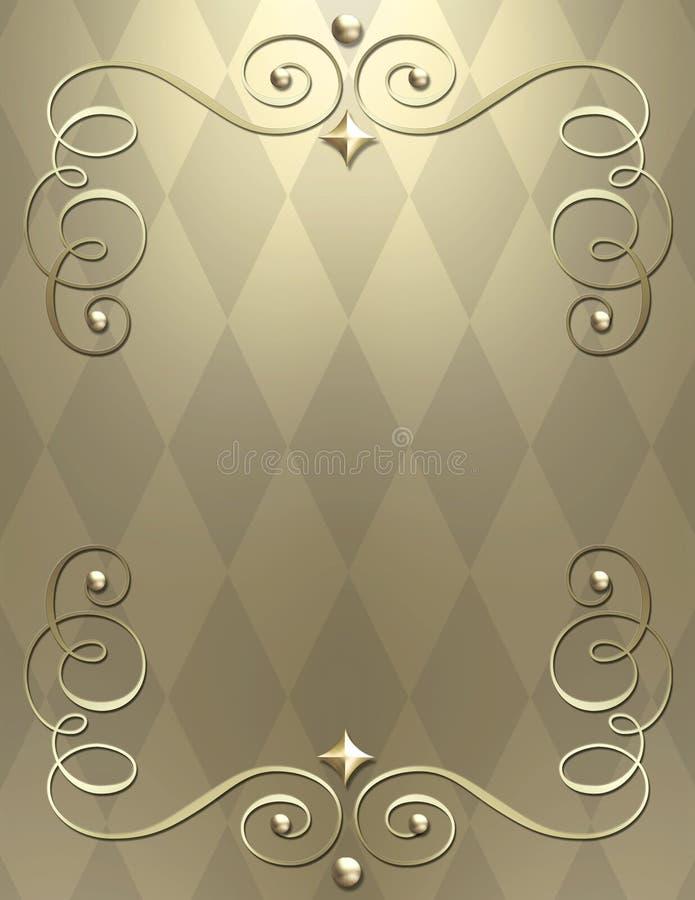 remous métallique élégant de fond illustration stock