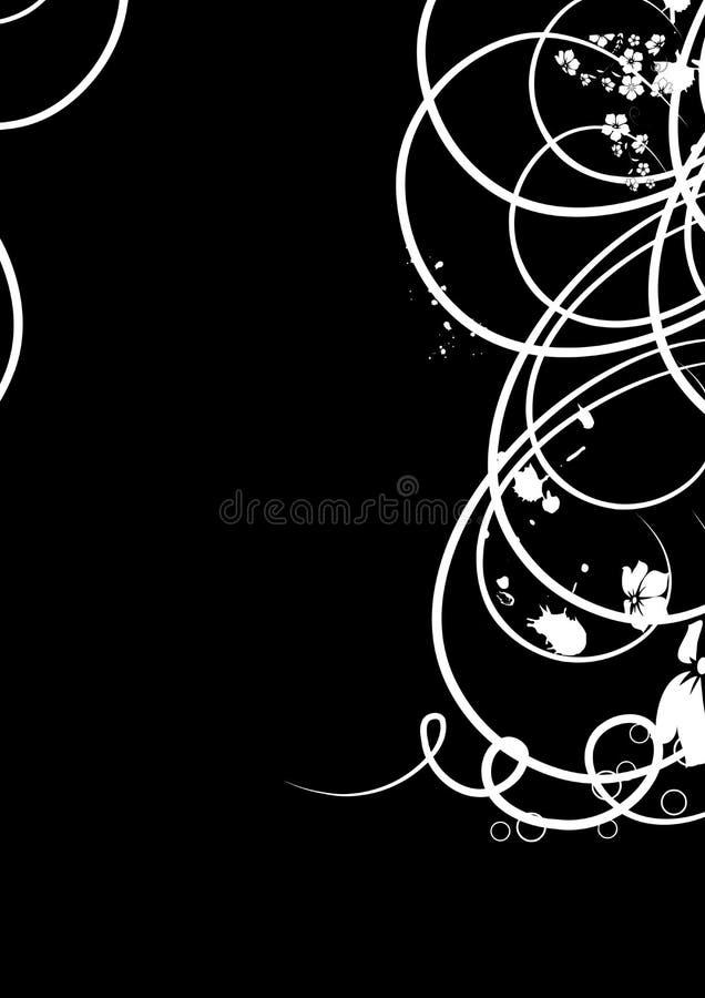 remous noirs et blancs élégants illustration stock
