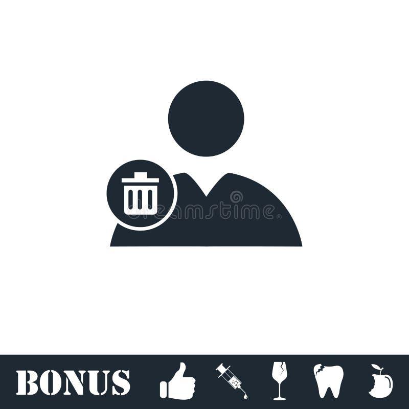 Remova o ?cone do contato horizontalmente ilustração royalty free