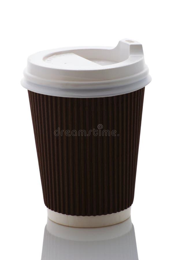 Remova o copo de café em um fundo branco fotografia de stock