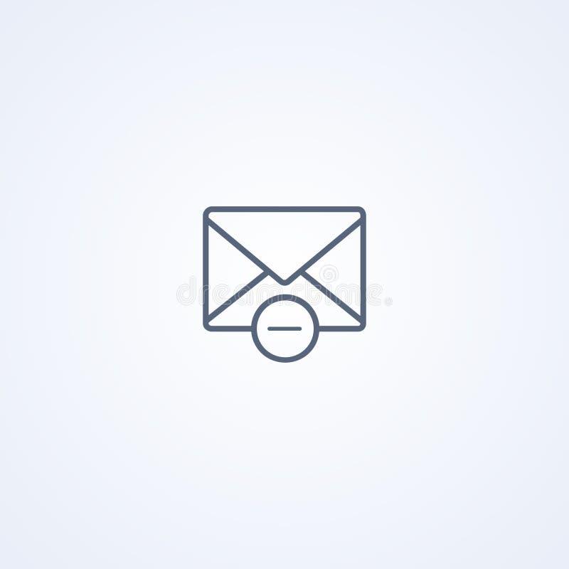 Remova o e-mail, a melhor linha cinzenta ícone do vetor ilustração royalty free